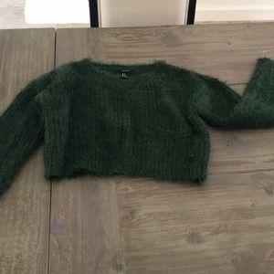 F21 Green Sweater